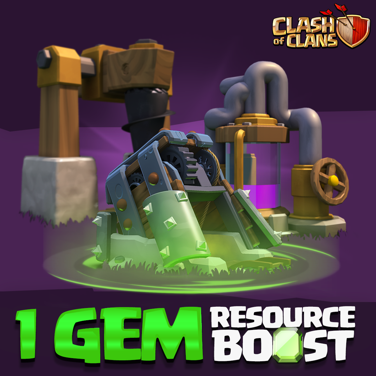 1 gem resource boost