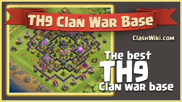 Th9 clan war base clash of clans wiki