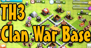 coc th3 clan war base