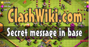 secret message in base coc