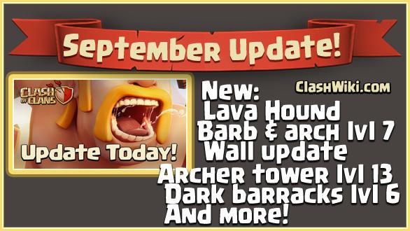 september update coc